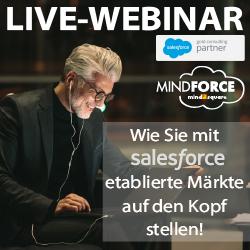 Live-Webinar: Wie Sie mit Salesforce etablierte Märkte auf den Kopf stellen!