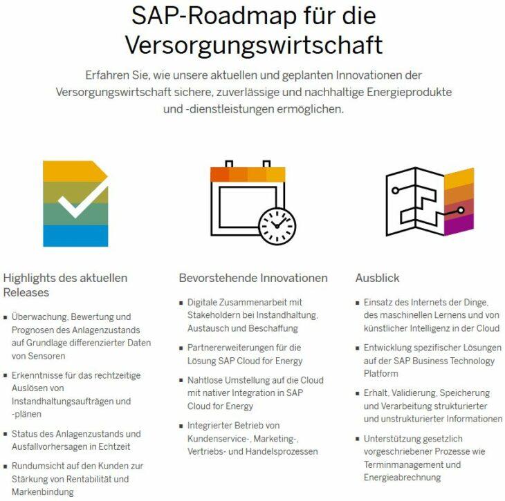 SAP-Roadmap für die Versorgungswirtschaft