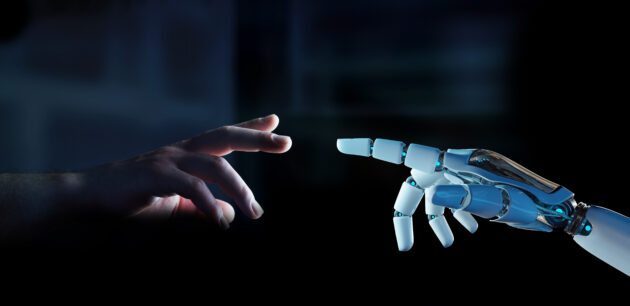 white-cyborg-finger-about-to-touch-human-finger-3d-rendering