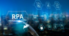 rpa-robotic-process-automation-systemartificial-intelligence-robot-fingerrobo-advisor-big-data-and-business-concept-robot-finger-on-blurred-background-using-digital-rpa-interface