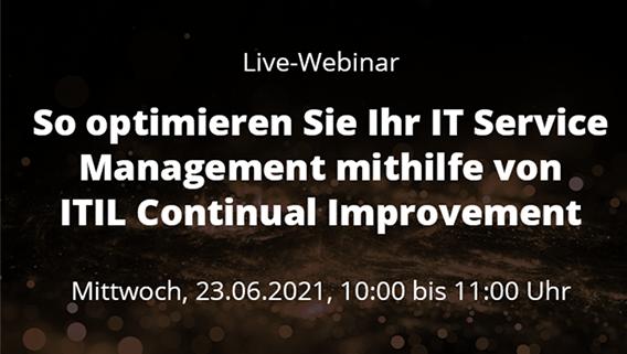 live-webinar ITSM mit ITIL