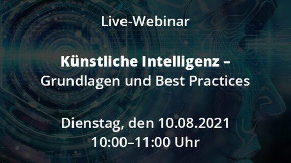 Live-Webinar Künstliche Intelligenz Grundlagen Best Practices