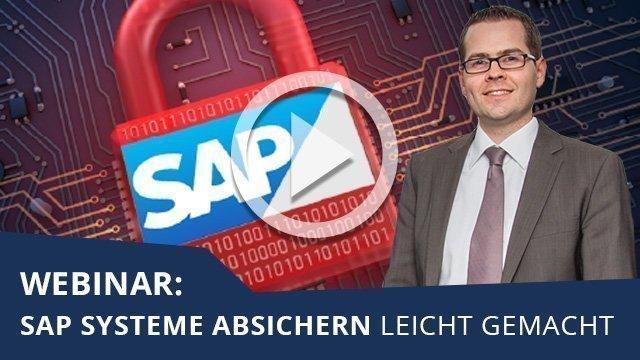 Unser Webinar zum Thema SAP Systeme absichern