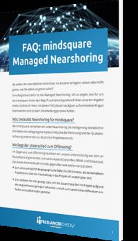 Unser Whitepaper zum Thema FAQ: mindsquare Managed Nearshoring