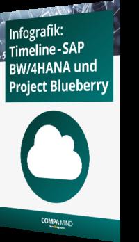 Unsere Infografik zur Timeline – SAP BW/4HANA und Project Blueberry