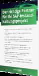 Unsere Checkliste für den richtigen Partner für Ihr SAP-Instandhaltungsprojekt