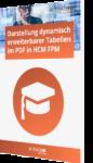 Darstellung dynamisch erweiterbarer Tabellen im PDF in HCM FPM