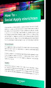 How to - Social Apply einrichten