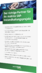 Partner mobiles SAP Instandhaltungsprojekt