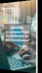 Checkliste Die goldenen 8 Tipps für Freiberufler bei dem Immobilienkauf