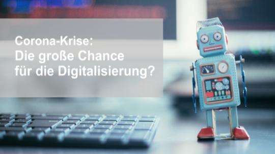 Chance für die Digitalisierung