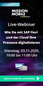 Live-Webinar am 03.11.2020