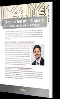 Trainee bei mindsquare interview mit markus krieger