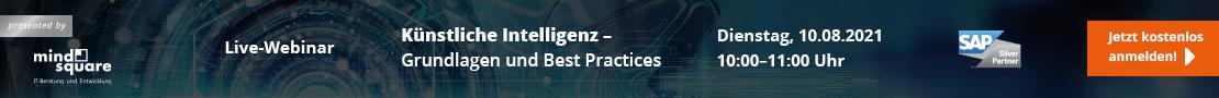Live Webinar Künstliche Intelligenz Grundlagen und Best Practices