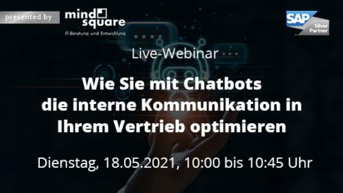 Live-Webinar Chatbots in Vertriebskommunikation