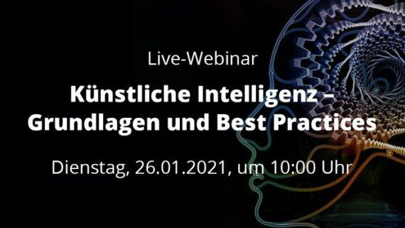 Live-Webinar Künstliche Intelligenz Grundlagen