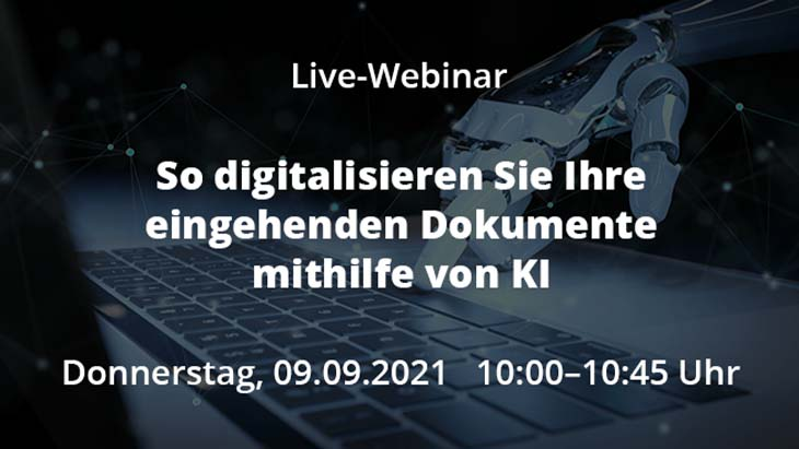 Live-Webinar So digitalisieren Sie ihre eingehenden Dokumnete mit KI