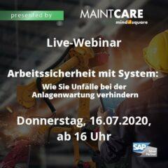 Unser Live-Webinar zum Thema Arbeitssicherheit mit System: Wie zu Unfälle bei der Anlagenwartung nachhaltig verringern können
