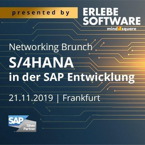 Unser Networking Brunch zum Thema S/4HANA in der SAP Entwicklung