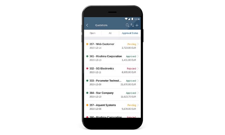 Business One mobile Anwendung