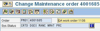 Instrument zur Datenpflege - SAP PM.