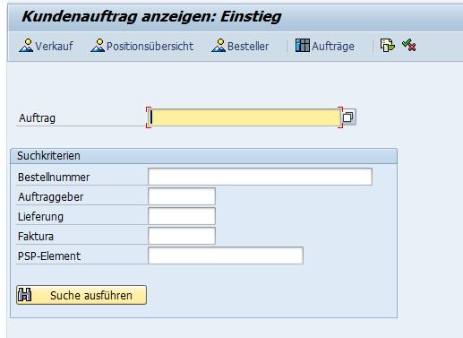 """Suchen im SAP """"Anzeigen""""-Transaktion wählen"""