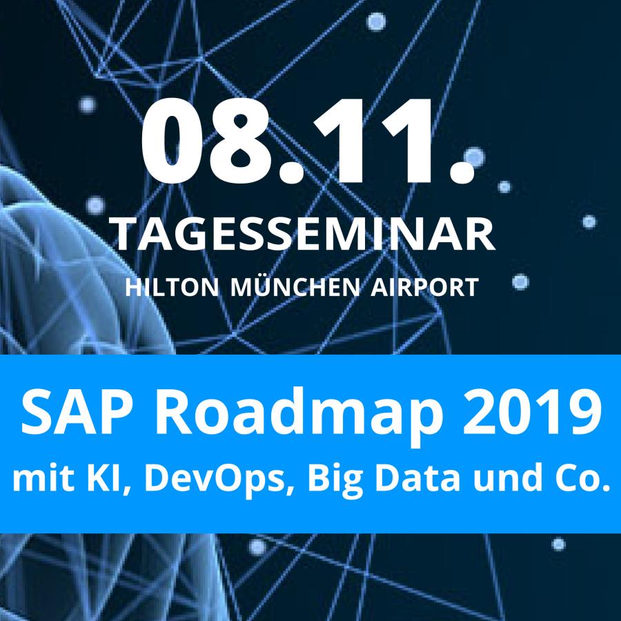 SAP Roadmap 2019 mit KI, DevOps, Big Data und Co. – das Tagesseminar in München