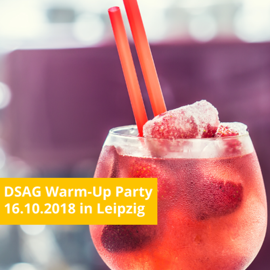 DSAG Warm-Up Party 2018 in Leipzig