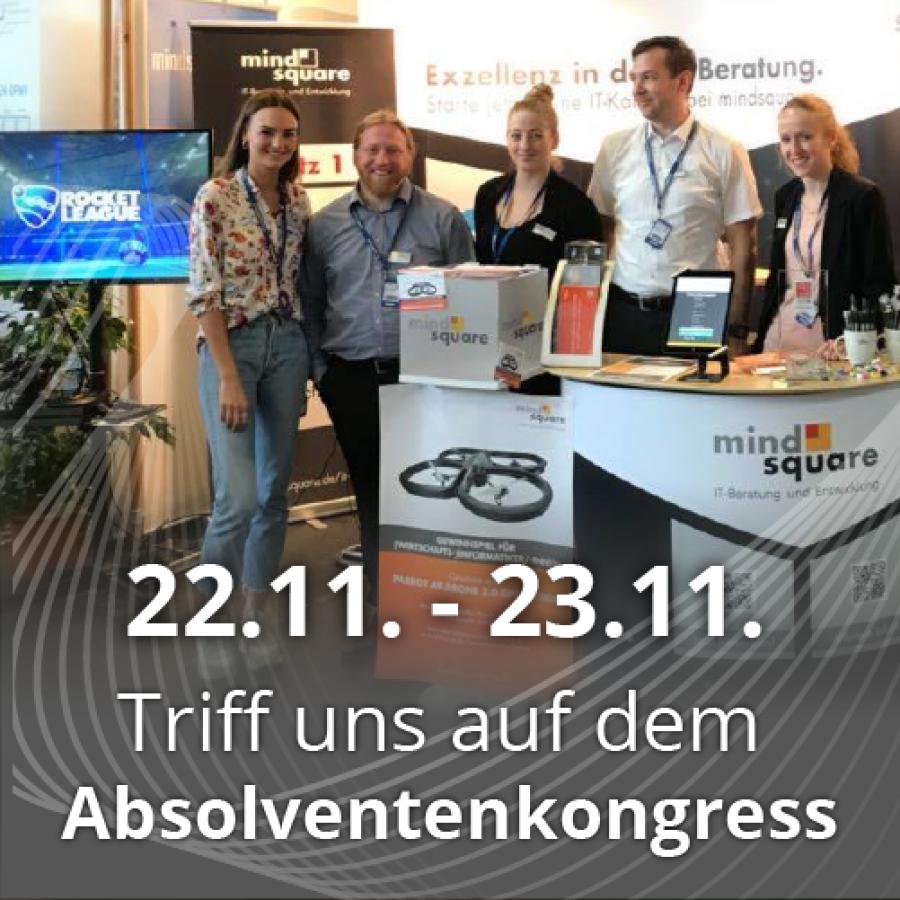 mindsquare auf dem Absolventenkongress in Köln