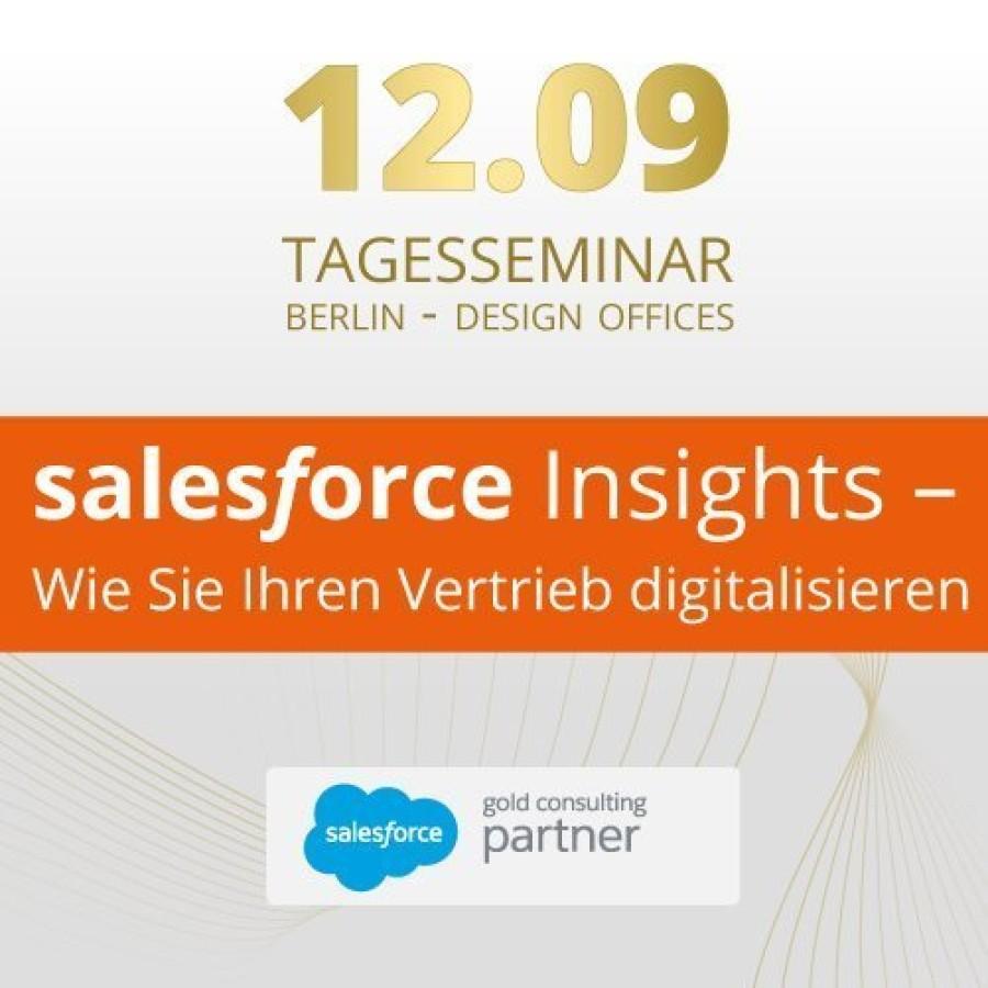 """Tagesseminar """"Salesforce Insights – Wie Sie Ihren Vertrieb digitalisieren"""""""