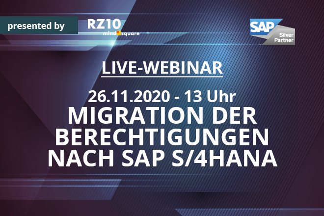 Live-Webinar: Migration der Berechtigungen nach SAP S/4HANA