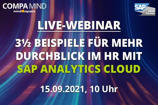 Live-Webinar: 3½ Beispiele für mehr Durchblick im HR mit SAP Analytics Cloud