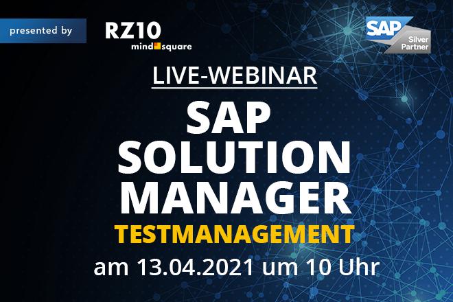 Live-Webinar: SAP Solution Manager Testmanagement