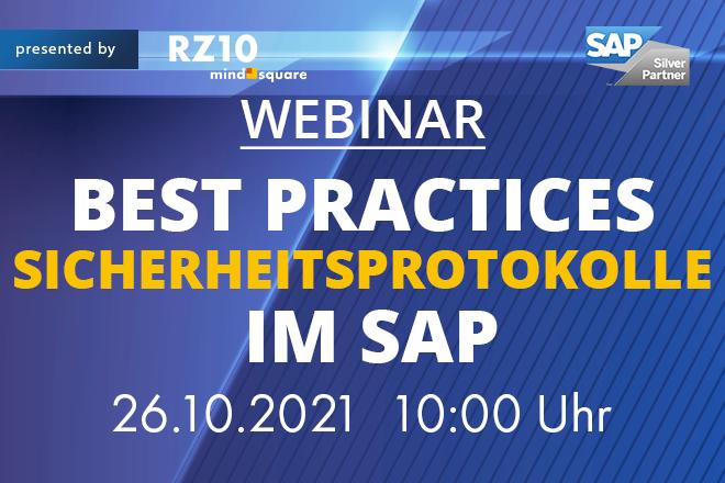 Best Practices Sicherheitsprotokolle im SAP