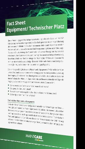 Fact Sheet Equipment und Technischer Platz erklärt
