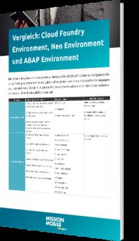 Unser Whitepaper zum Vergleich: Cloud Foundry Environment, Neo Environment und ABAP Environment