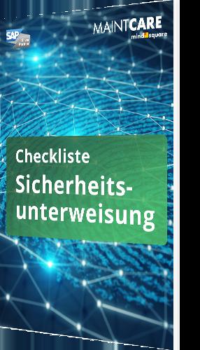 Unsere Checkliste zur Sicherheitsunterweisung
