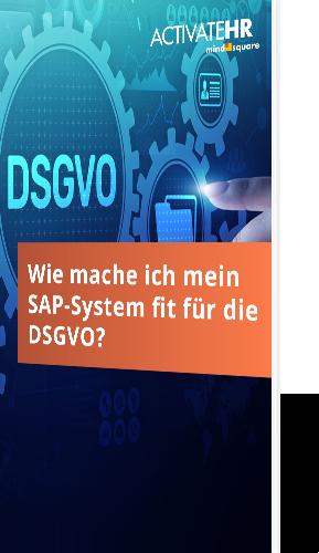 Wie mache ich mein SAP-System fit für die DSGVO?