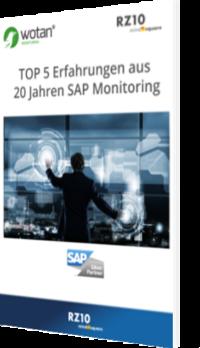 Unser E-Book zum Thema Top 5 Erfahrungen aus 20 Jahren SAP Monitoring