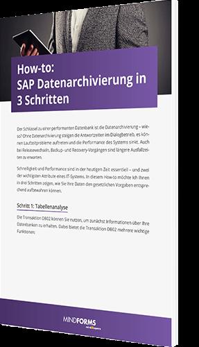 Unser Whitepaper zum Thema How to SAP Datenarchivierung in 3 Schritten
