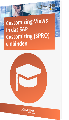 Customizing-Views in das SAP Customizing (SPRO) einbinden