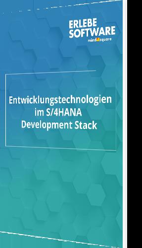 Entwicklungstechnologien im S4HANA Development Stack