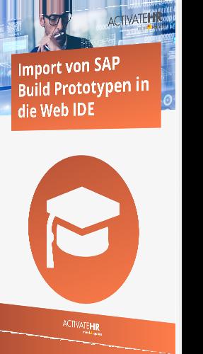 SAP Build Prototypen in die Web IDE
