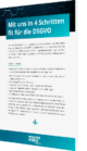 Mit uns in 4 Schritten fit für die DSGVO
