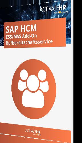 SAP HCM ESS MSS Add-On Rufbereitschaftsservice