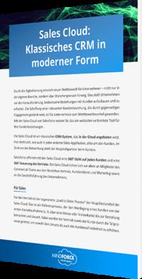 Unser Whitepaper zur Sales Cloud: Klassisches CRM in moderner Form