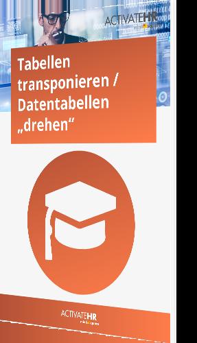 """Tabellen transponieren Datentabellen """"drehen"""""""