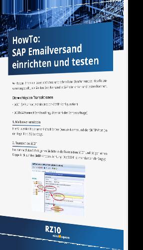 Howto: SAP E-Mail Versand