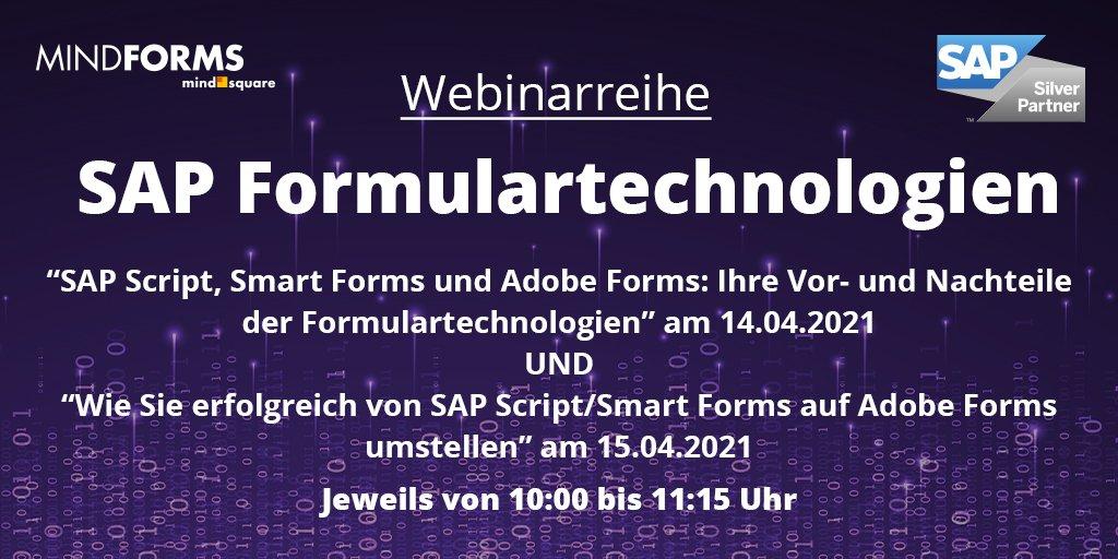 SAP Formulartechnologien: Live-Webinare im April