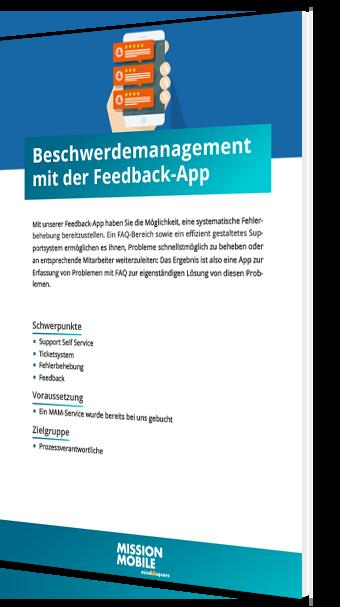 Unser Whitepaper zum Beschwerdemanagement mit der Feedback-App
